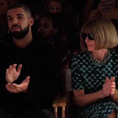 Drake y Anna Wintour en el front row de Serena Williams de la Nueva York Fashion Week primavera/verano 2016