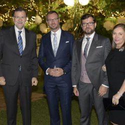 Javier Maroto y Josema Rodríguez en su boda con Mariano Rajoy y Elvira Fernández Balboa