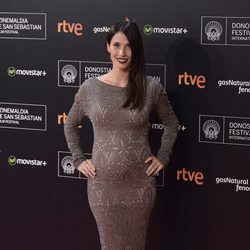 Bárbara Goenaga luce embarazo en la apertura del Festival de San Sebastián 2015