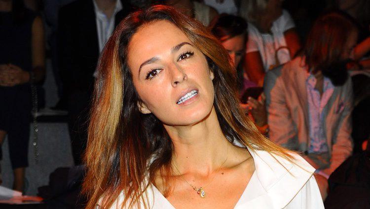 Mónica Estarreado en el front row de Ulises Mérida durante la Madrid Fashion Week 2015