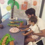 Feliciano López celebra su 34 cumpleaños con Lucas