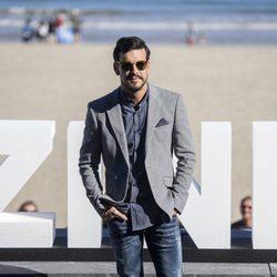 Mario Casas en la presentación de 'Mi gran noche' en el Festival de San Sebastián 2015