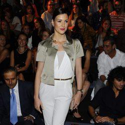 María Jesús Ruiz en el front row de Andrés Sarda en Madrid Fashion Week primavera/verano 2015
