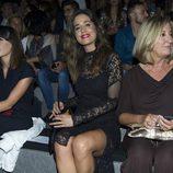 Isabel Jiménez en el front row de Hannibal Laguna en Madrid Fashion Week primavera/verano 2015