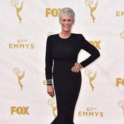 Jamie Lee en la alfombra roja de los premios Emmy 2015