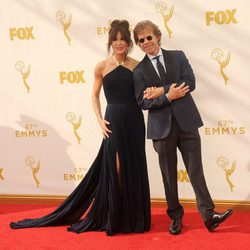 Felicity Huffman y William H.Macy en la alfombra roja de los premios Emmy 2015