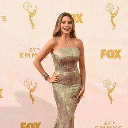 Sofía Vergara en la alfombra roja de los premios Emmy 2015