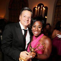 Uzo Aduba celebra su Emmy 2015 en la fiesta Netflix