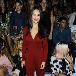 Xenia Tostado en el front row de Dolores Cortés en Madrid Fashion Week primavera/verano 2015