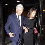 Isabel Preysler y Mario Vargas Llosa en el inicio de la temporada de ópera 2015