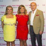 Terelu Campos con Carmen Borrego y José Carlos Bernal en su 50 cumpleaños