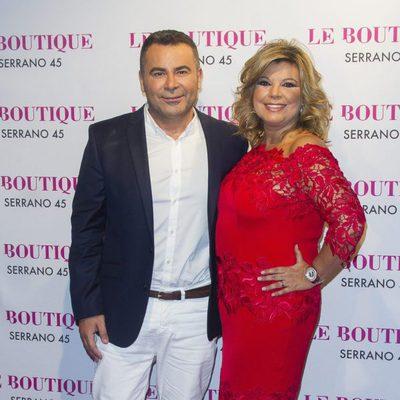 Terelu Campos con Jorge Javier Vázquez en su 50 cumpleaños