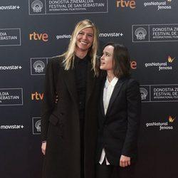 Ellen Page y Samantha Thomas en la presentación de 'Freeheld' en el Festival de Cine de San Sebastián 2015