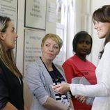 Kate Middleton durante su visita a una cárcel de mujeres