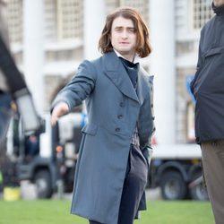 Daniel Radcliffe durante el rodaje de 'Victor Frankestein' en Londres