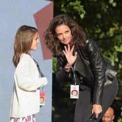Katie Holmes y Suri Cruise en el Global Citizen Festival 2015