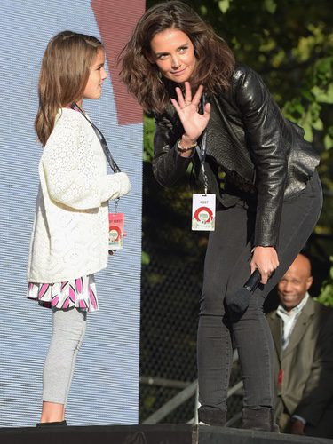 Katie Holmes y Suri Cruise en el Global Citizen Festival 2015
