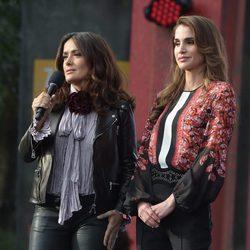 Salma Hayek y la Reina Rania de Jordania en el Global Citizen Festival 2015