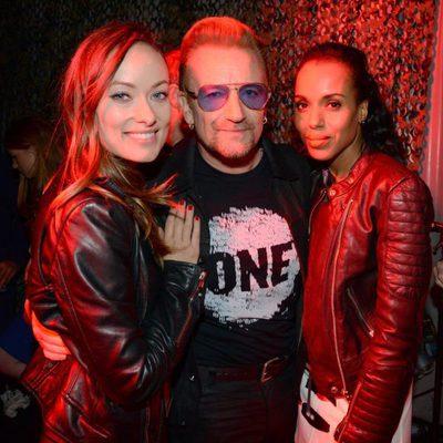 Olivia Wilde, Bono y Kerry Washington en el Global Citizen Festival 2015