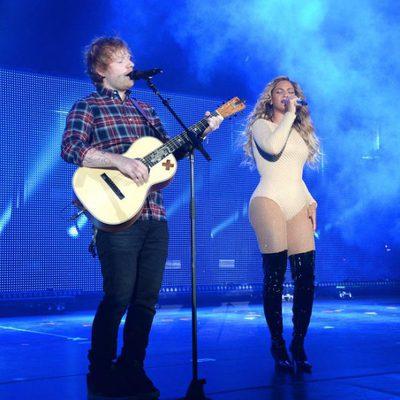 Ed Sheeran y Beyoncé en el Global Citizen Festival 2015
