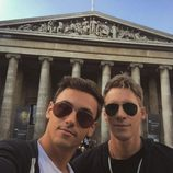 Tom Daley y Dustin Lance Black en el Museo Británico de Londres