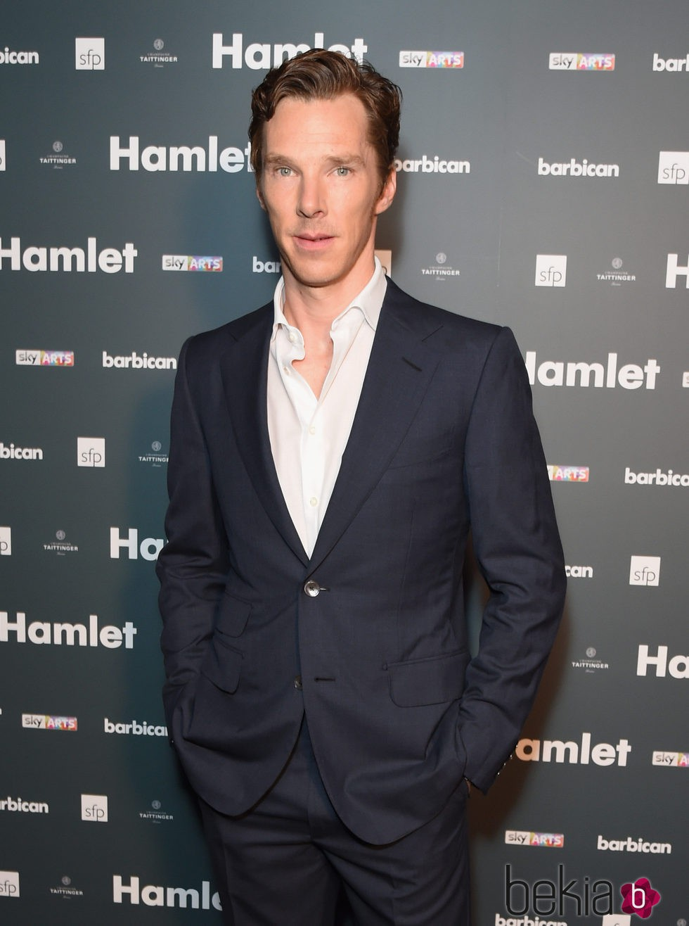 Benedict Cumberbatch en la fiesta posterior al pase para la prensa de la obra 'Hamlet'