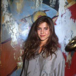 Jennifer Aniston en una fiesta de la NBC en 1990