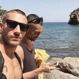 David Delfín y Pablo Sáez en la playa