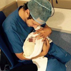 Primera imagen de Daniel Diges con su hijo Eliot