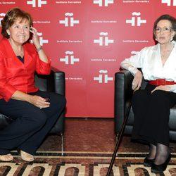 Carmen Caffarel y Amparo Rivelles en el homenaje a Amparo Rivelles en el Instituto Cervantes