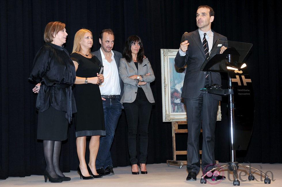 María Luisa Merlo, Amparo y Luis Larrañaga, Maribel Verdú y Luis Merlo homenajean a Amparo Rivelles