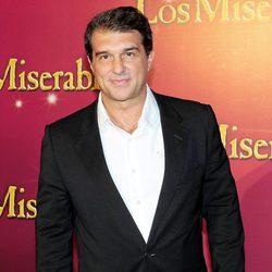 Joan Laporta en el estreno de 'Los Miserables' en Barcelona