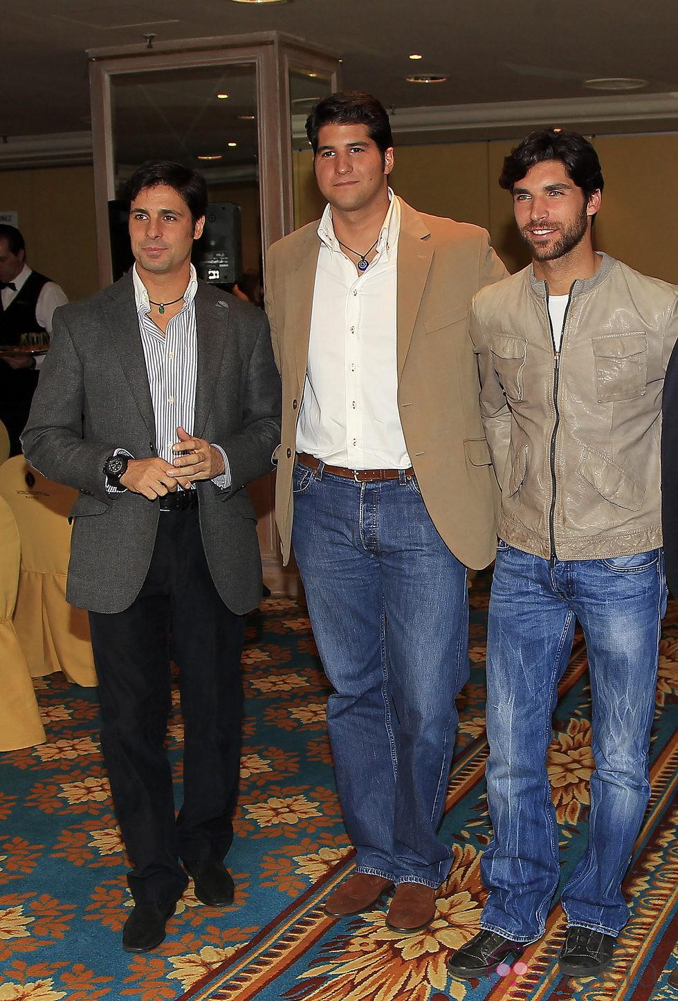 Fran Rivera, Julián Contreras y Cayetano Rivera Ordóñez