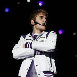 Justin Bieber en su concierto en México