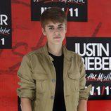 Justin Bieber en el photocall previo a su concierto en México