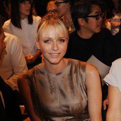 Charlene de Mónaco en la semana de la moda de París