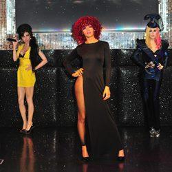 Rihanna, Lady Gaga y Amy Whinehouse en el museo Madame Tussauds de Londres