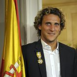 Diego Forlán condecorado con la Cruz Oficial la Orden de Isabel la Católica