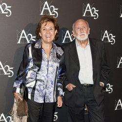 Carmen Caffarell y Teófilo Calle durante un acto de la Academia de Cine