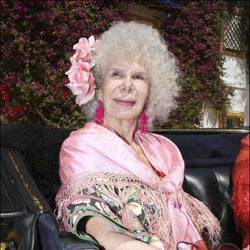 Cayetana Fitz James Stuart en la Feria de Abril de 2008