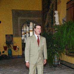Cayetano Martínez de Irujo en el Palacio de las Dueñas