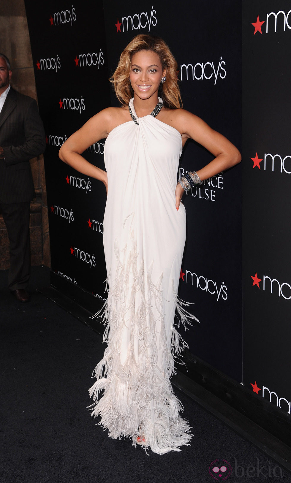 La cantante Beyoncé, embarazada, en la presentación de su nuevo perfume