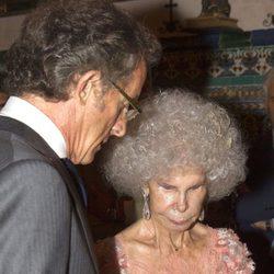 Cayetana de Alba y Alfonso Díez se intercambian los anillos en su boda en Sevilla