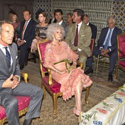 La Duquesa de Alba, Alfonso Díez e invitados en la celebración religiosa de su enlace en Sevilla