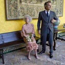 Cayetana de Alba y Alfonso Díez en el Palacio de las Dueñas, en Sevilla