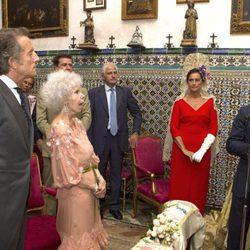Francisco Rivera leyendo en el enlace de Cayetana de Alba y Alfonso Díez