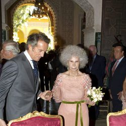 Cayetana de Alba y Alfonso Díez durante su boda en Sevilla