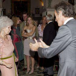 Cayetana y Alfonso, felices ante todos sus invitados