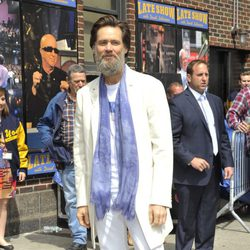 Jim Carrey en el 'Late Show with David Letterman'