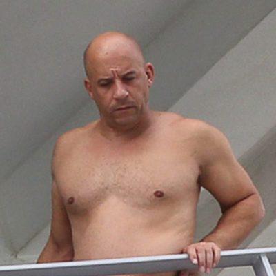 Vin Diesel luciendo enorme barriga